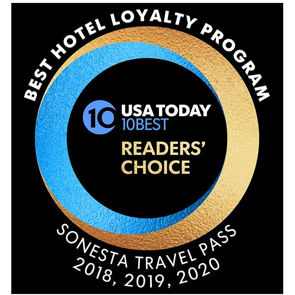 10Best 2020 - Best Hotel Loyalty Program - Sonesta Travel Pass