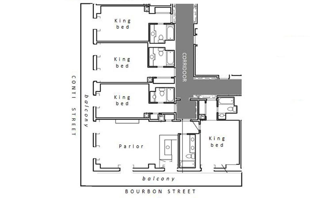 Corner Bourbon Conti Balcony Hospitality Suite