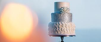 Three-tiered Wedding Cake