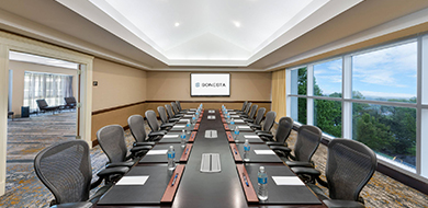 Morristown Boardroom with Long Table and Chairs