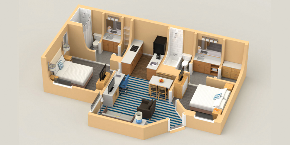 Trio Two-Bedroom Suite