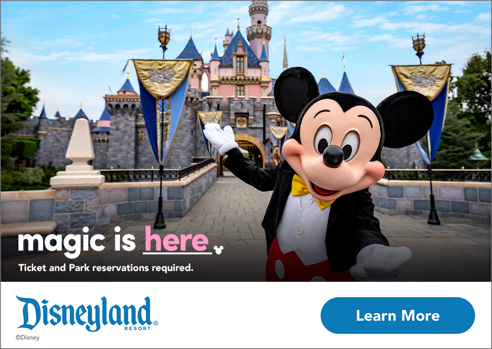 magic is here. Ticket and park reservations required. Disneyland resort. ©Disney - LEARN MORE