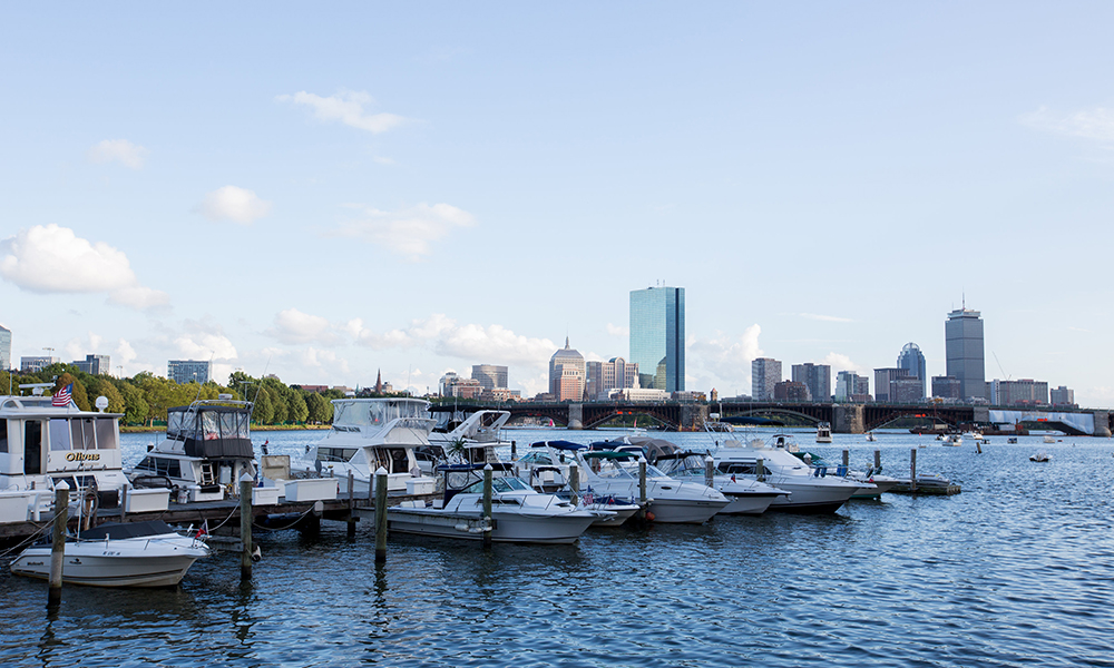 Boats in the Boston Harbor.