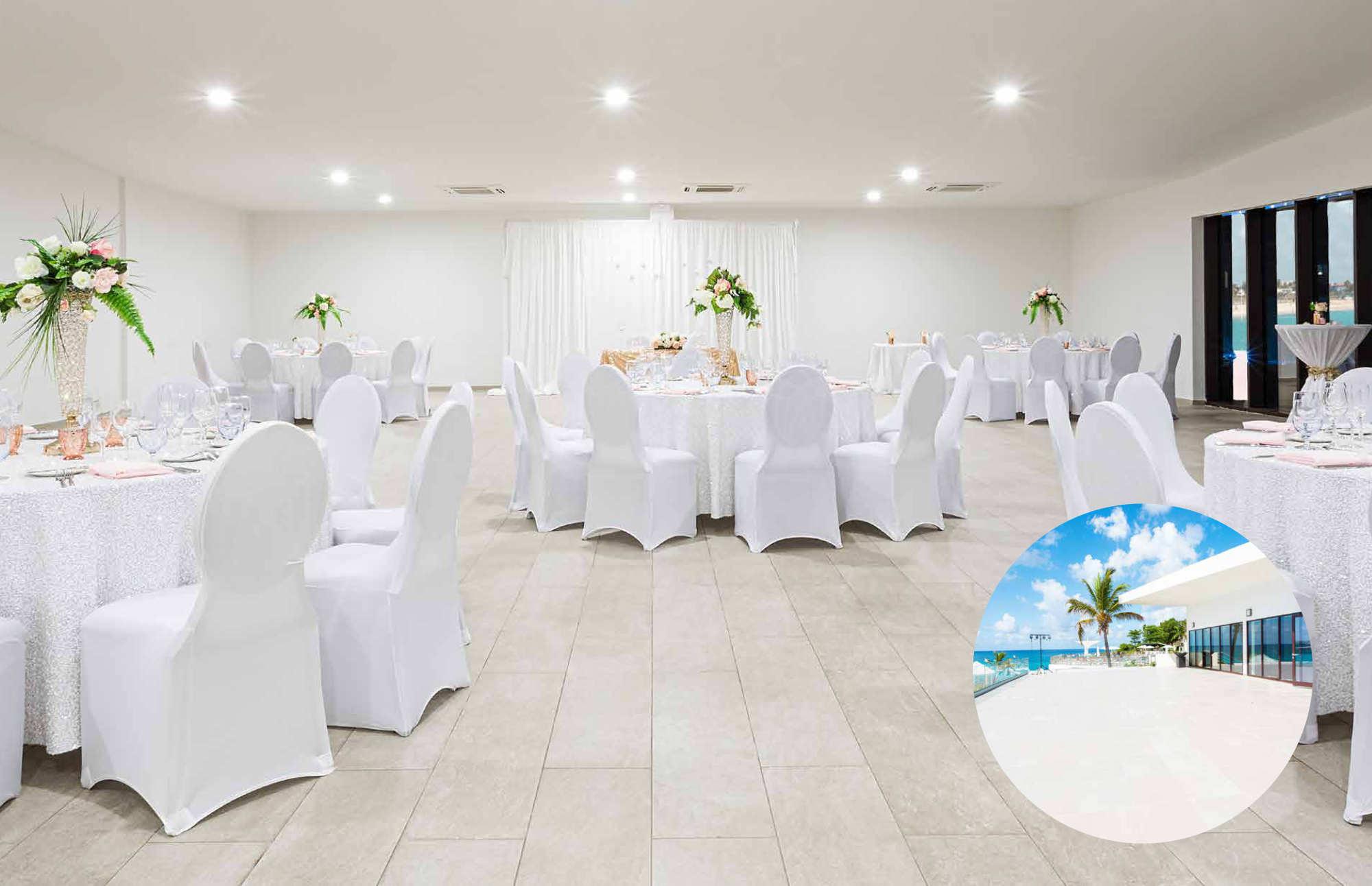 outdoor wedding reception in st maarten