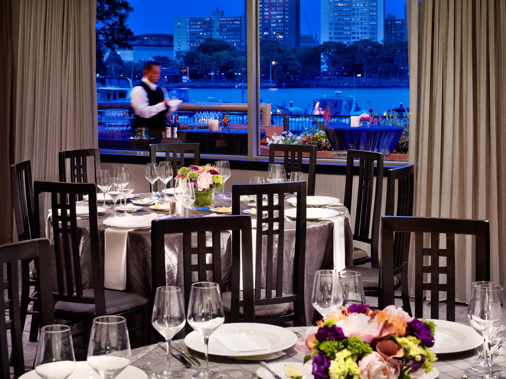 Royal Sonesta Boston Meeting Dining Tables Waiter