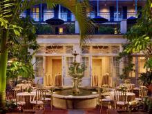 Wedding Reception Courtyard Fountain