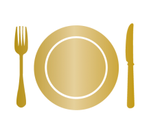 Weddings Icon - Fork, Plate, Knife