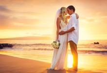 beach wedding at sonesta st maarten