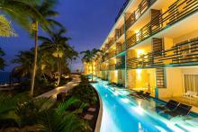 Swim Out Junior Suites Exterior At Night