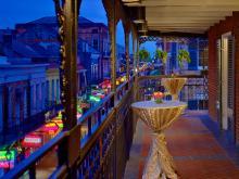 Royal Sonesta New Orleans Balcony Flowers Tables
