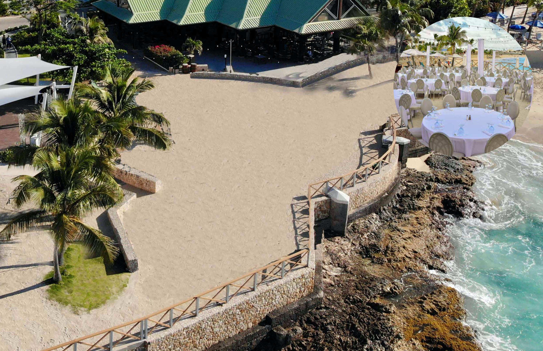 palms beach wedding in st maarten