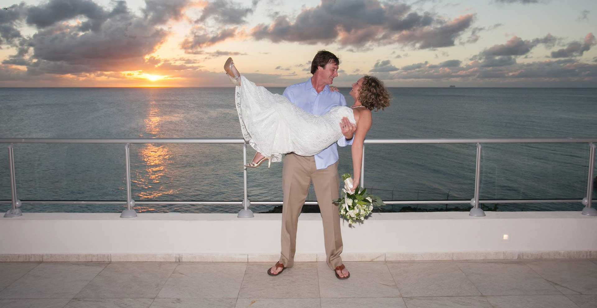 st maarten wedding at sonesta ocean point